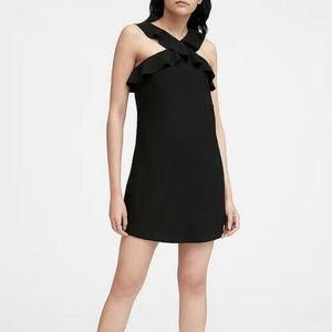Banana Republic Ruffle Halter Dress Black 4